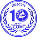 Logo 10* anniversario A. S. D. Taekwondo Lupi